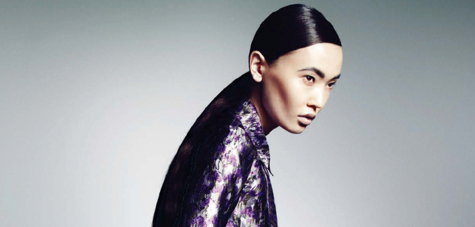 Bayana the asian looking beauty from Kazakhstan for L'Officiel Latvija