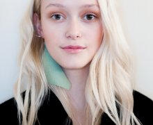 Pastels and corrals for a fresh-looking face and natural hair textures for Michael Sontag at the Berlin Fashion Week A/W 2015