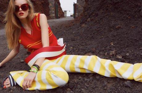 Stripes for Gala Magazine shot by Yves Borgwardt