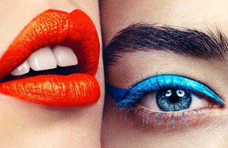 Blue liquid eyeliner / Cosmopolitan / Andra