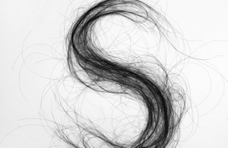 Monique Goossens / Typography / Hair / Net / Art