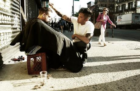Mark Bustos / Homeless Haircuts / Inspiring Sundays