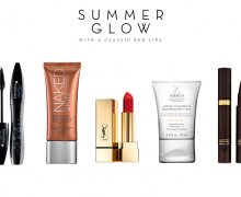 Summer Glow with a classic red lip