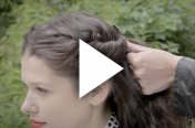 Easy and quick twisted hairstyle with beachwave and scarf