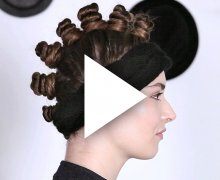 Raver buns with headband, inspired by Marc by Marc